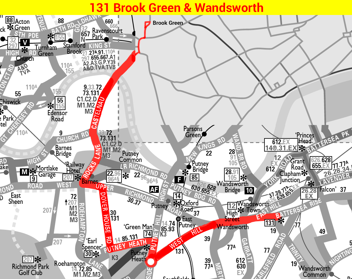 Route 131 map