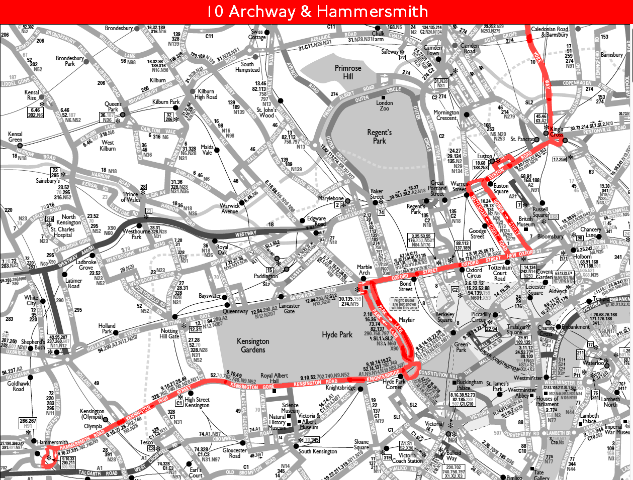 Route 10 map 1999
