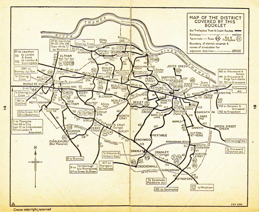 dartford map 1950